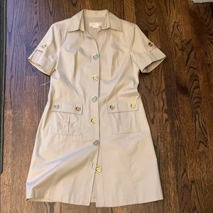 Michael Kors Dress Beige Button Down 10